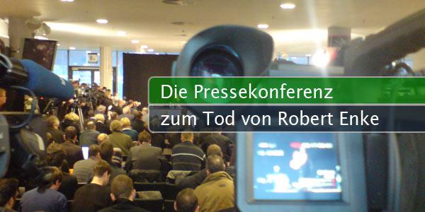 Pressekonferenz zum Tod von Robert Enke